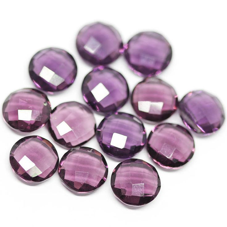 Purple Amethyst Quartz faceted coin beads pairs, Centre Drilled, 3 pai – Jewels Exports