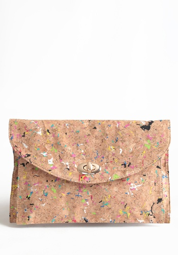 ThreadSence  Neon Party Cork Purse