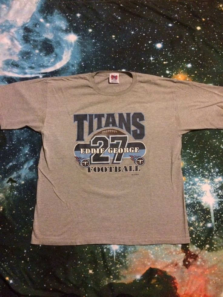 Vintage Tennessee Titans Eddie George NFL Football Over Sized T-Shirt by VintageVanShop on Etsy