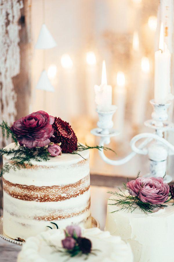 Dessert Display with Mini Cakes and Candles    #weddings #weddingideas #aislesociety  #vintagewedding