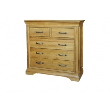 Solid Oak - FRC5 Lyon Oak 3+2 Chest of Drawers www.easyfurn.co.uk