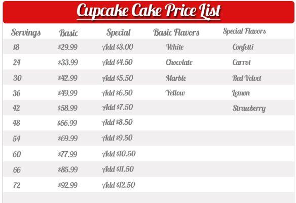 Pin Walmart Bakery Cake Prices