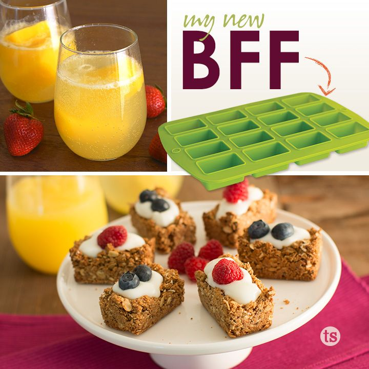 The Silicone Bar Pan │One pan that can do so much! Prepare a beautiful, bite-sized brunch with the silicone bar pan.
