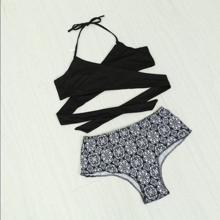 Baños Estilo Nautico:Aliexpresscom: Comprar Mujeres moda de cintura alta Bikinis trajes de