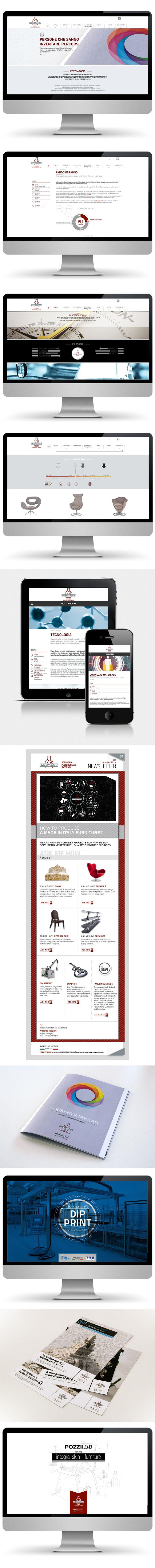 Il percorso comunicativo effettuato con Pozzi Arosio rappresenta una modalità di progettazione che b_centric percorre con padronanza e visione. Il sito web vuole mantenere la continuità del linguaggio applicato a una realtà, quella di Pozzi Arosio, innovativa, complessa, moderna. Il materiale a corredo si caratterizza per la forte identità visiva, mutevole a seconda dello specifico supporto, a volte digitale a volte stampato.