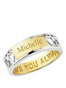 Personalised jewellery, ring. Learn how to surprise your girlfriend >>> http://justbestylish.com/12-ways-how-to-surprise-your-girlfriend/10/