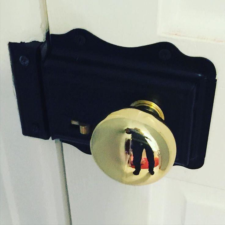 It's only taken me two years to get round to fixing the bathroom door lock...  #diy