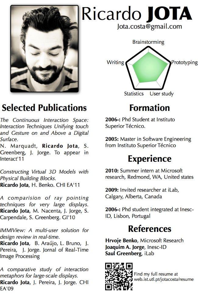13 best CV 1Pager images on Pinterest | Resume design, Design resume ...