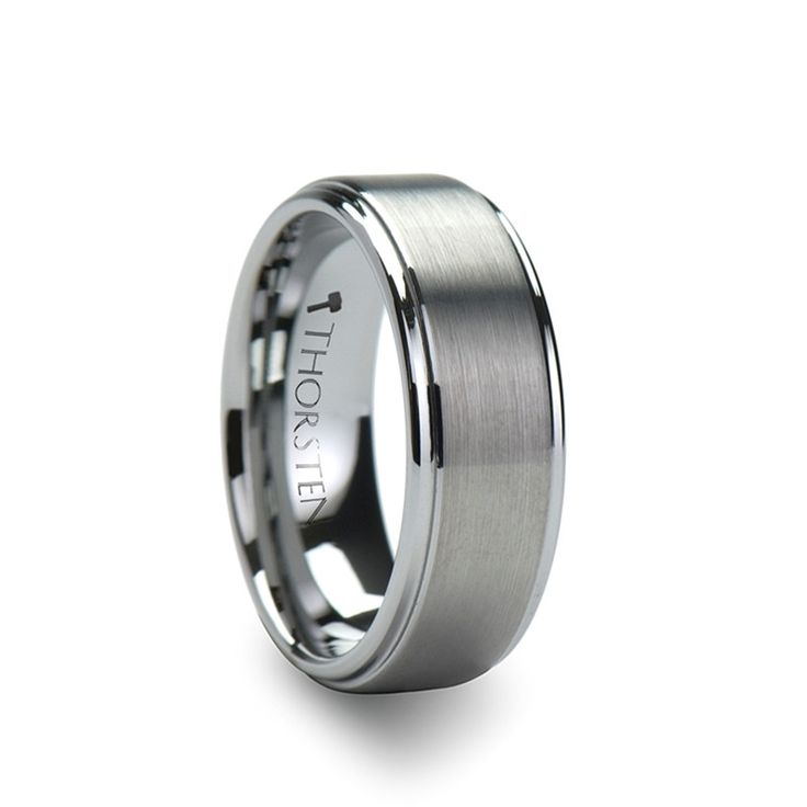 ANDROS Brushed Tungsten Wedding Band for Men from Wedding Bands HQ