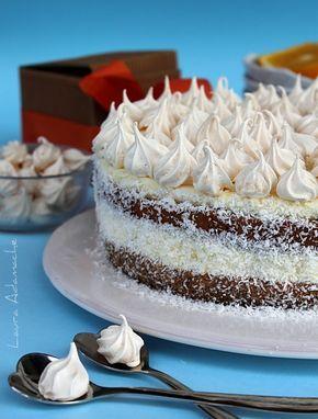 Tort cu crema de portocale si ciocolata alba - retete culinare torturi. Reteta tort  cu crema portocale. Pandispan cu mac reteta. Tort aniversar cu crema de portocale.
