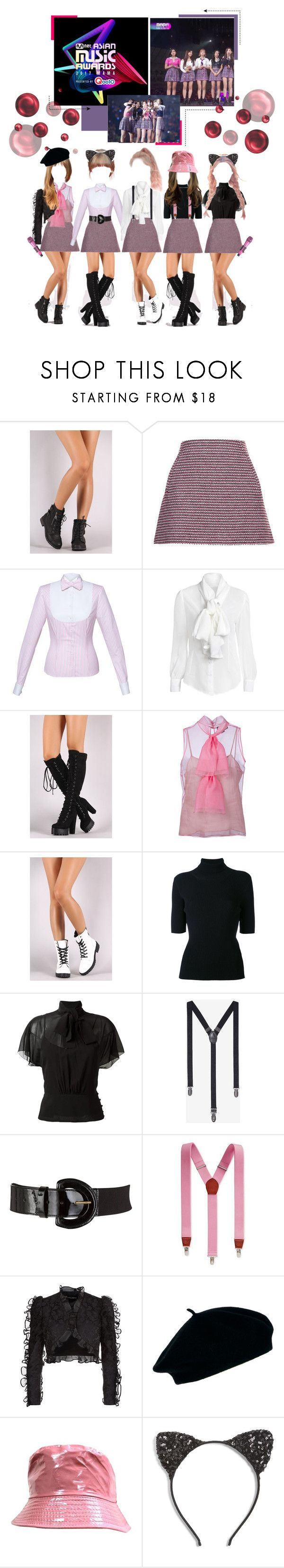 """«CANDY - MAMAs COLLAB STAGE»"" by cw-entertainment ❤ liked on Polyvore featuring Thakoon, Lena Hoschek, Gucci, Qupid, Valentino, RED Valentino, Express, John Lewis, Club Room and Dolce&Gabbana"