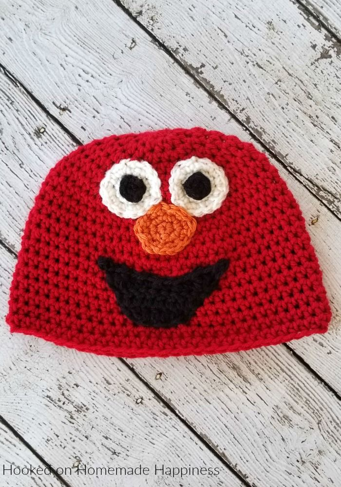 d62e3aef401 Elmo Crochet Beanie Pattern (Crochet Along for a Cause