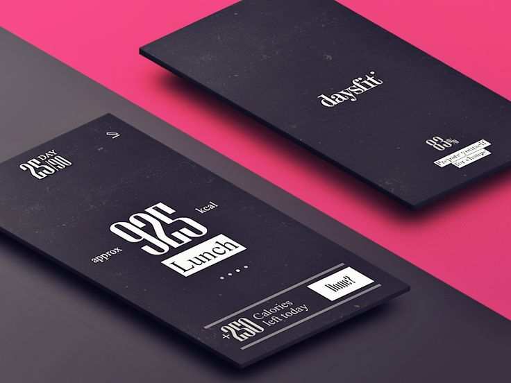 Daysfit iPhone App screens by Igor Ivankovic