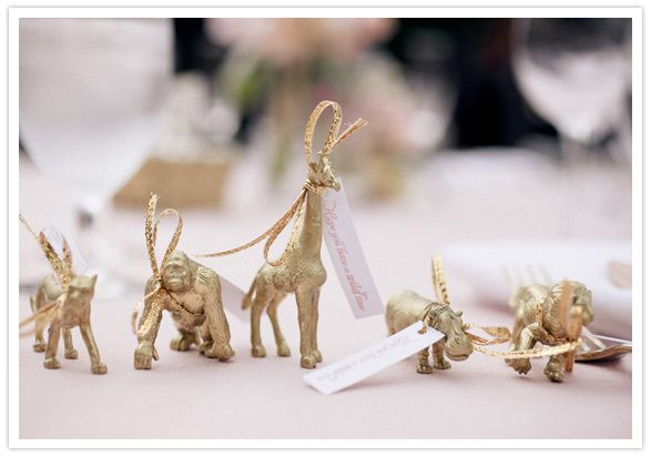 gold wedding animal favors