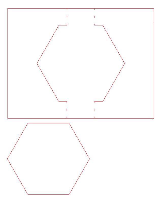 Free Hexagon Swing Card (SVG & Silhouette Studio Cut File) #Silhouette #CutFile