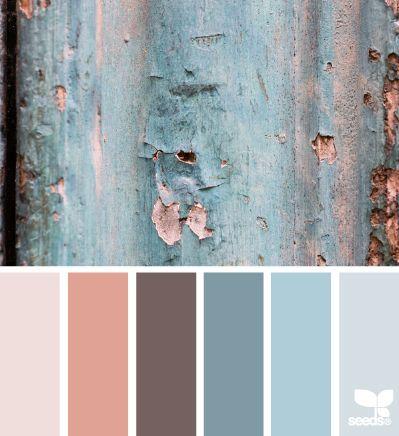 texture tones color palette inspiration | blue peach