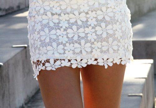 SKIRT  flower lace skirt