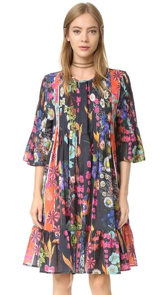 Cynthia Rowley Платье с оборками и защипами