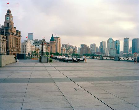 Looking Towards Customs House, North End, The Bund, Shanghai, 05/08/2011, 5.10 (paving recess)