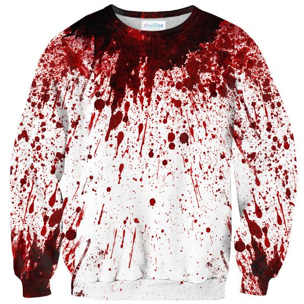 Blood Splatter Sweater – Shelfies - Outrageous Clothing
