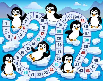 * Pinquin-spel! Bedenk samen met de kinderen de spelregels!