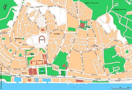 Carte Lisbonne Ouest - Plan Lisbonne Ouest