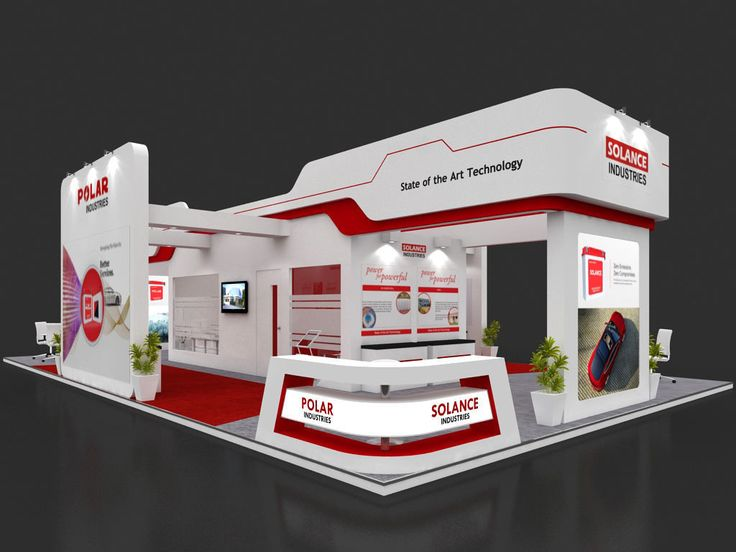 exhibition stall 3d model 15x9 mtr 4 sides open 3d model max 1