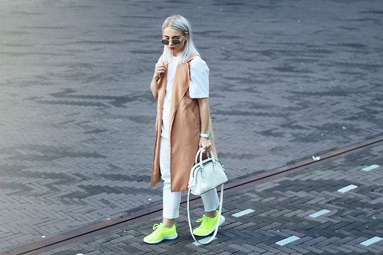 Get this look: http://lb.nu/look/7768952  More looks by Pilleriin HFS: http://lb.nu/hfs  Items in this look:  Dressin Waistcoat, Primark Sneakers, Zara Bag, Primark Trousers   #edgy #minimal #street
