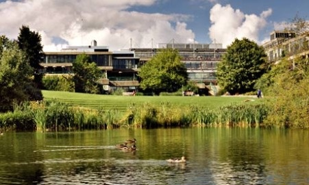 University of Bath, our lake and campus.