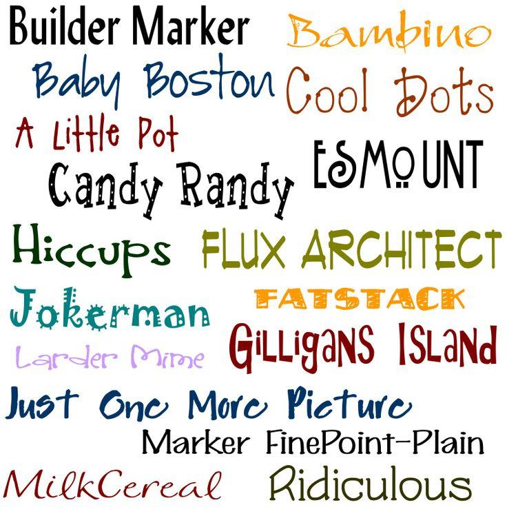 free fonts and font websites!