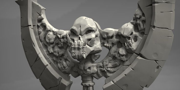 Axe Sculpt, Jared Sobotta on ArtStation at https://www.artstation.com/artwork/axe-sculpt-234fd0fc-e218-4dca-abfd-55de86f5067e