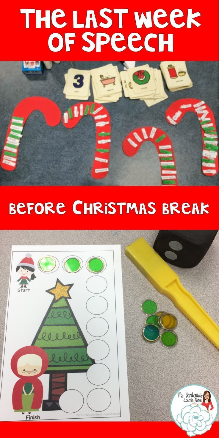 'Twas the last week of Speech Therapy...before Christmas
