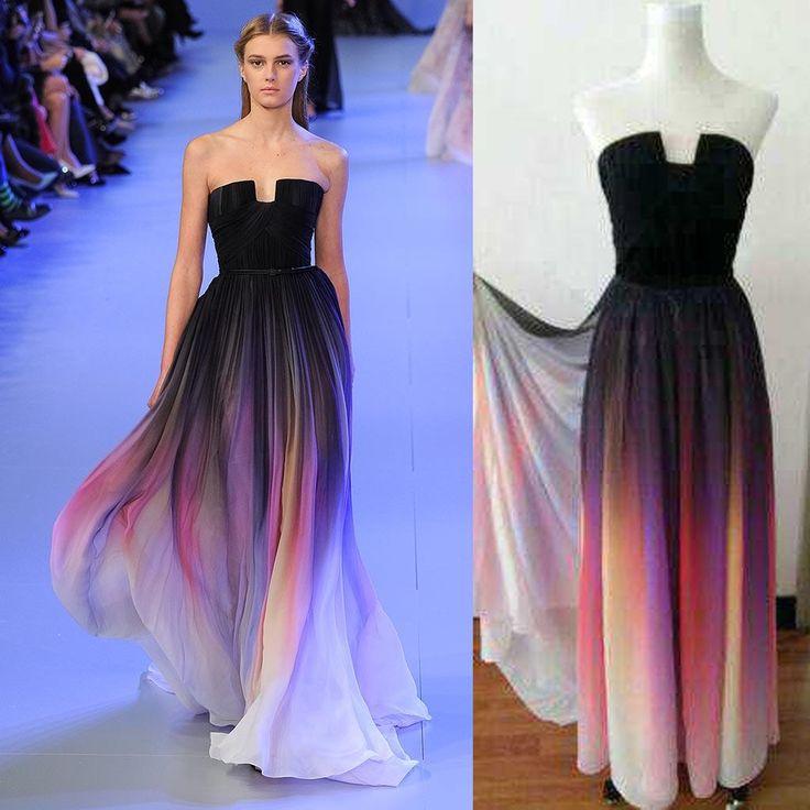 Ombré Halter Neck Maxi Dress
