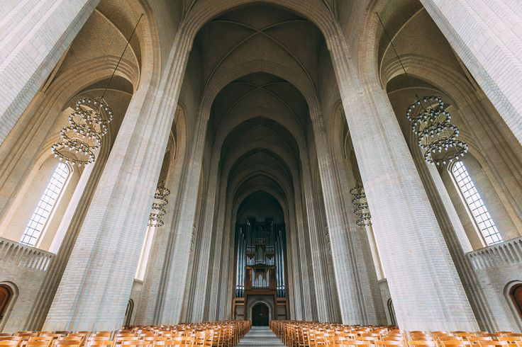 The interior of the most beautiful church of Copenhagen, Grundtvigs Kirke