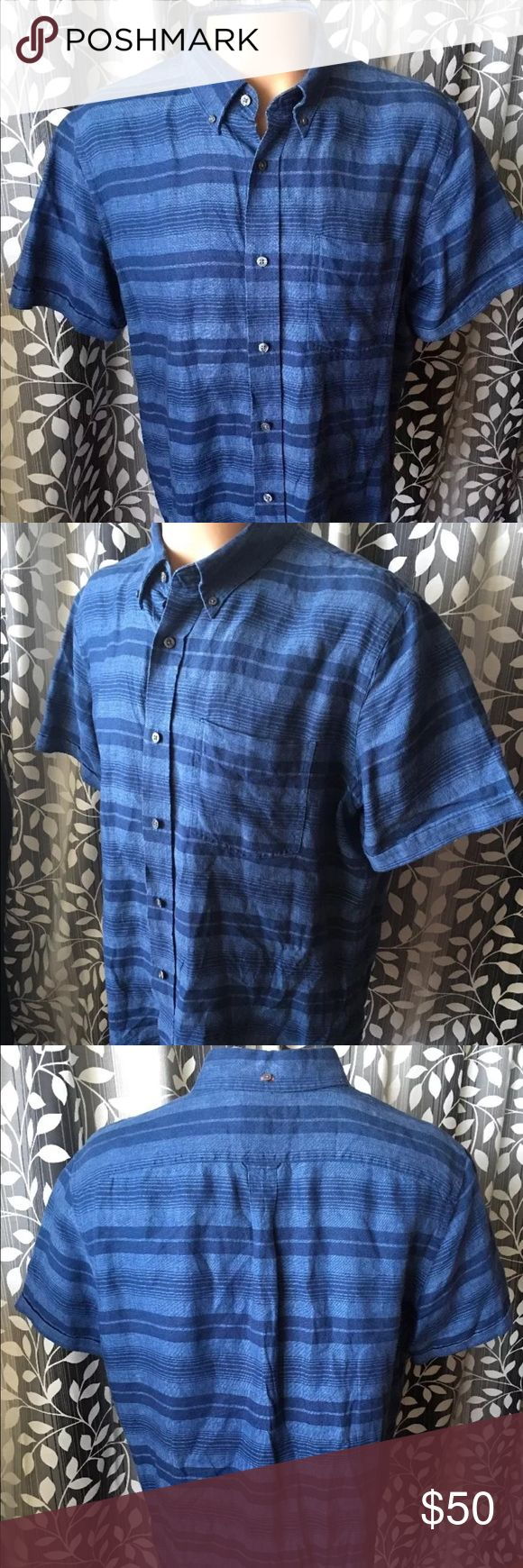 "JACK SPADE short sleeve 100% linen shirt Great JACK SPADE shirt! 100% linen. Short sleeve. Size XXL. Armpit to armpit-26"" shoulder to shoulder- 20"" neck to bottom- 31.5"". In great condition! Thank you. Jack Spade Shirts Casual Button Down Shirts"