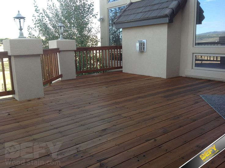 Redwood Deck And Railing After Defy Extreme Wood Stain In