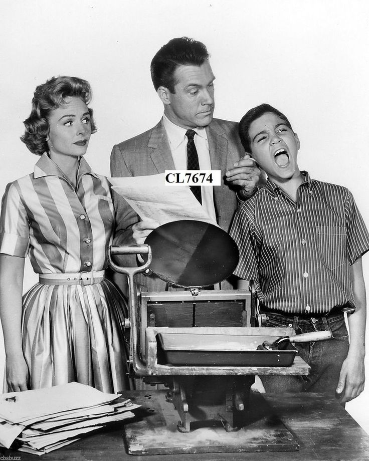 Donna Reed, Paul Petersen and Carl Betz in the TV Show Photo
