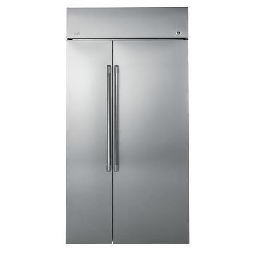 "General Electric CSB42WSKSS 42"" Built-in Side by Side Refrigerator, Silver"