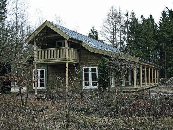 Træhuse fra Trelleborg Helårshuse - Fritidshuse A/S Træhuse Lavenergihuse Bjælkehuse
