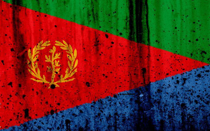 Download wallpapers Eritrea flag, 4k, grunge, flag of Eritrea, Africa, Eritrea, national symbols, Eritrea national flag