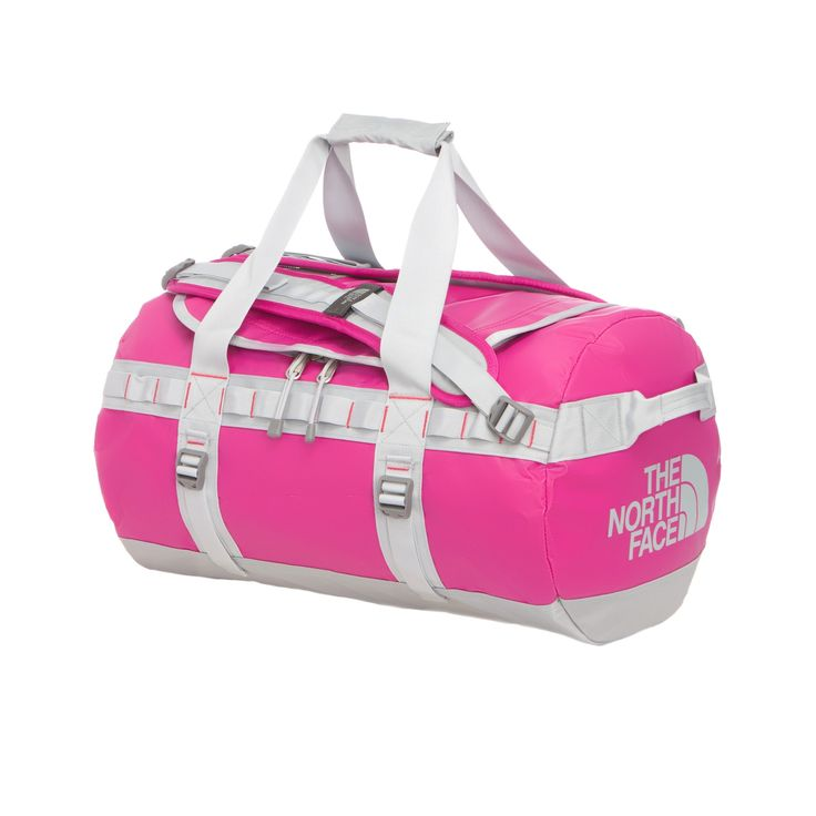 The North Face Base Camp Duffel - S S, Fuchsia Pink/High Rise Grey
