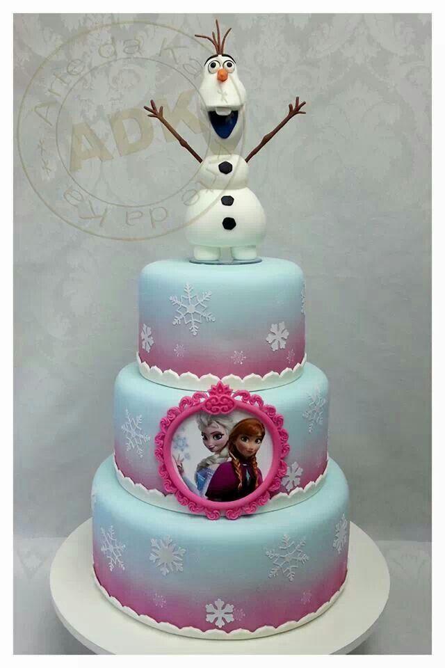 Elsa & Anna Cake