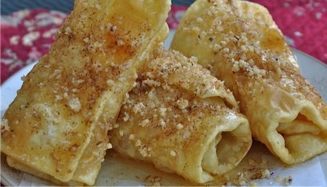 Diples - Recipe for Making Greek Diples - Fried Greek Pastries with Honey and Cinnamon