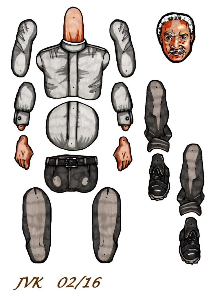 Shepherd Book jointed paper doll. by MadunTwoSwords.deviantart.com on @DeviantArt