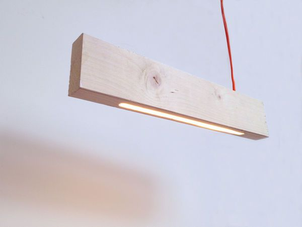 Simple Timber Illuminators - The 2x4 Pendant Lamp Brings Structure and Light to Modern Spaces --- alexallenstudio(GALLERY)