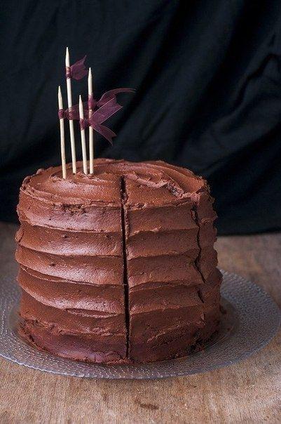 Фото к рецепту: Шоколадный торт.