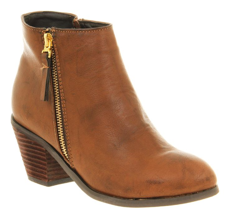 Womens-Office-Nikita-Zip-Cognac-Brown-Patent-Upper-