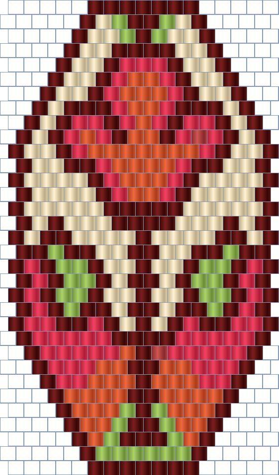 Схемы серег из бисера - мозаика  free peyote earrings pattern  http://anabel-beadpatterns.blogspot.com/