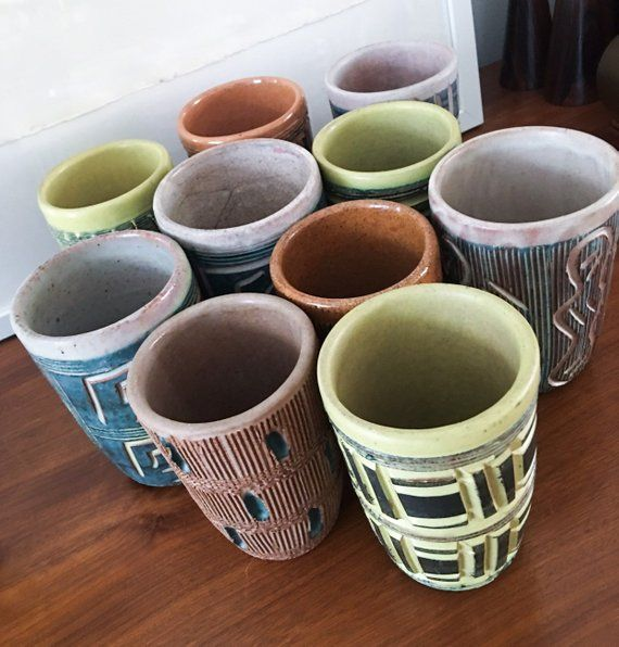 1940s Large Set Of Hal Lasky Puerto Rican Pottery Corp Etsy Ceramic Shop Kitchenware Design Pottery