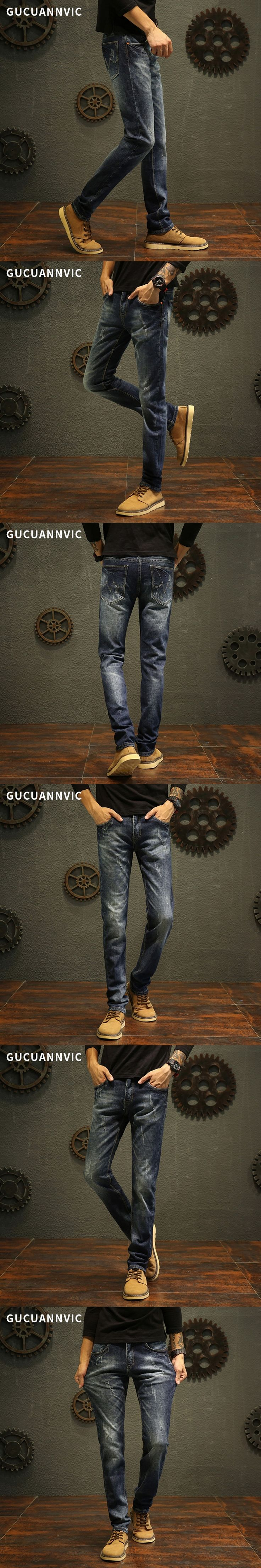 New Men Skinny Jeans Stretch Fashion Classic blue men's jeans  All-match slim men's jeans Stretch Fit jeans